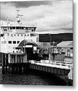 Caledonian Macbrayne Rothesay Ferry At Wemyss Bay Scotland Uk Metal Print