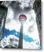 Calgary Tower Hdr Metal Print