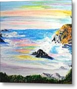 California Coast Metal Print by Susan  Clark