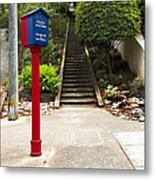 Call Box With Stairs Metal Print