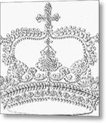 Calligraphy Crown Metal Print