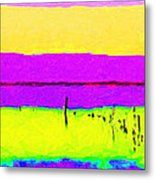 Calm Morning Waters In Abstract 2 Metal Print