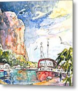 Calpe Harbour 04 Metal Print