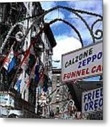 Calzone Time Metal Print