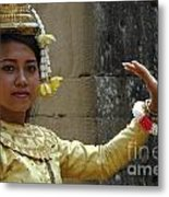 Cambodian Dancer Metal Print