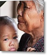 Cambodian Grandmother And Baby #1 Metal Print