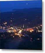 Camden Hills Mount Battie Dusk View Metal Print