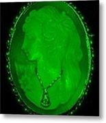 Cameo In Green Metal Print