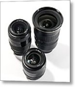 Camera Lenses Metal Print by Johnny Greig