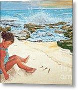 Camila And The Carribean Sea Metal Print
