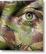Camouflage Warrior Metal Print