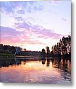 Camp Fire Sunset Metal Print