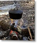 Campfire Cooking Metal Print