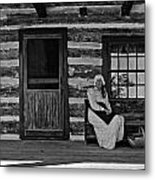 Canadian Gothic Monochrome Metal Print
