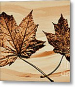 Canadian Leaf Metal Print by Marsha Heiken