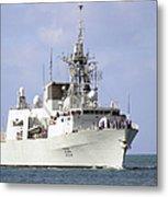 Canadian Navy Halifax-class Frigate Metal Print