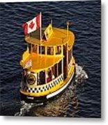 Canadian Water Taxi Metal Print