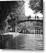 Canal Of St. Martin Bw Metal Print