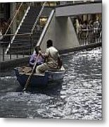Canal Running Through The Length Of The Shoppes Running Under Th Metal Print