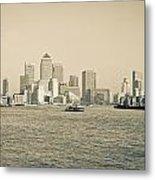 Canary Wharf Cityscape Metal Print