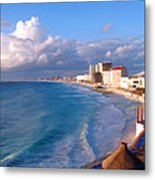 Cancun Waters Metal Print