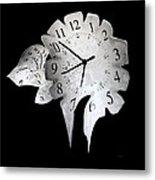 Candle Clock Metal Print