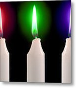Candle Flames Metal Print by Victor De Schwanberg