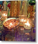 Candle Light Reflections  Metal Print