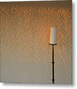 Candle With Fading Light Metal Print