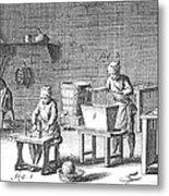 Candlemaking, 18th Century Metal Print