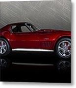 Candy Apple Corvette Metal Print