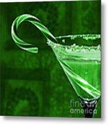 Candy Cane Cocktail  Metal Print