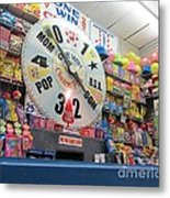 Candy Wheel  -  Seaside Metal Print
