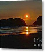 Cannon Beach Sunset Metal Print