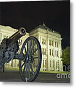 Cannon In Front Of The Texas State Capitol In Austin Metal Print