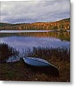 Canoe At Black Lake Metal Print