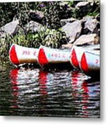 Canoe Rentals On The St Croix Metal Print