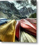 Canoes 2 Metal Print