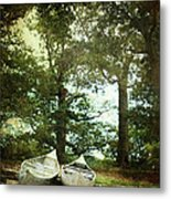 Canoes On The Shore Metal Print