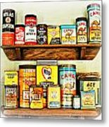 Cans Of Old Metal Print
