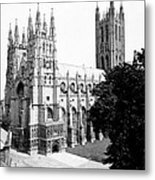 Canterbury Cathedral - England - C 1902 Metal Print
