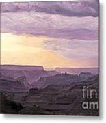 Canyon At Dusk Metal Print
