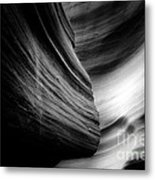 Canyon Curves In Black And White Metal Print by Christine Till