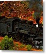 Canyon Train Metal Print