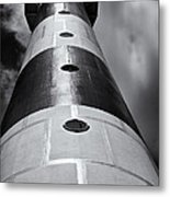 Cape Canaveral Lighthouse Black And White Metal Print