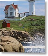 Cape Neddick Nubble Lighthouse Maine Metal Print by Jeff Clinedinst