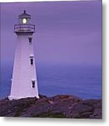 Cape Spear Lighthouse At Twilight, Cape Metal Print