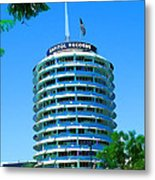 Capital Records Hollywood Metal Print