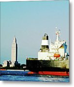 Capitol View Mississippi River Metal Print