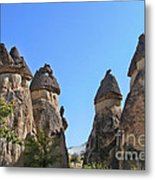 Capped Rock Formations Of Cappadocia Metal Print by Alexandra Jordankova